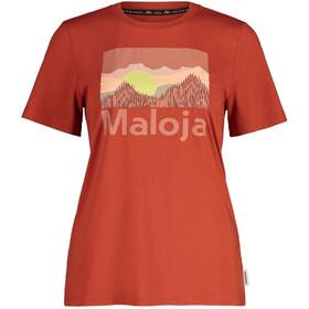 Maloja LeinblattM. SS T-shirt Damer, rød